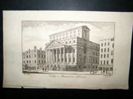 UK 1761 Antique Print, Mansion House, London
